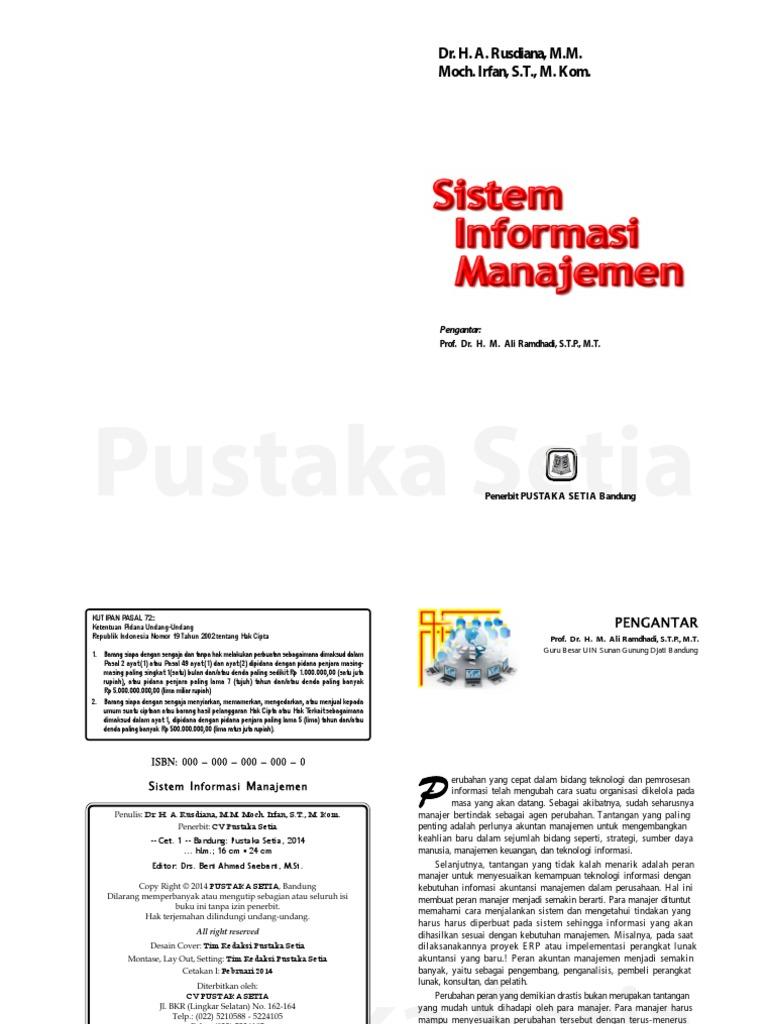 Buku Sistem Informasi Manajemen Pdf
