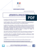 Communiqué - Déclaration d'Utilité Publique