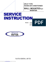 Fujitsu Service Instruction