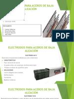 Electrodos para aceros de baja Aleación