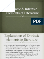 Extrinsic Intrinsic Elements of Literature Ppt New