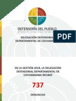 INFORME DE LA DEFENSORÍA DEL PUEBLO DE COCHABAMBA (2018)
