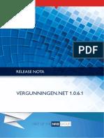 Releasenota Vergunningen.NET v1.0.6.1