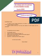 Cuaderno de apoyo al encuentro de Palabra de vida Agosto 2018.