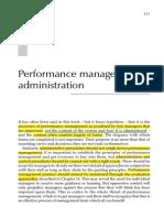 Performance Management Administration