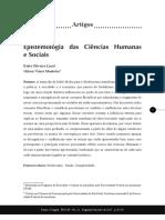 Epistemologia das Ciências Humanas e Sociais