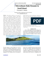 Variability of Microclimate Daily Dynamic in Small Island