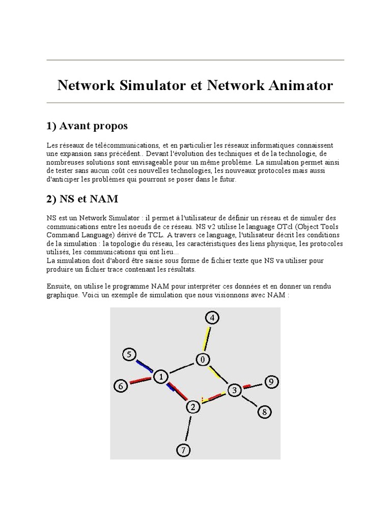 Network Simulator Et Network Animator | Unix Software