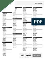 2019 CFL Schedule - Central