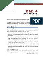 BAB IV Rencana Kerja