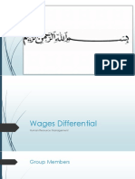 Wages Differential