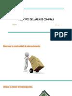 OBJETIVOS DEL ÁREA DE COMPRAS