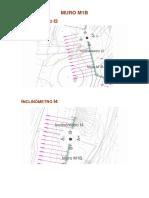 Localização Inclinómetros Muros Pmo