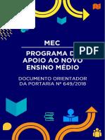 Programa de apoio ao Novo Ensino Médio