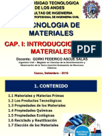 INTRODUCCION TECNOLOGIA DE MATERIALES