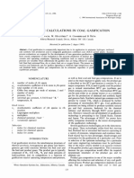 Equilibrium Calculations in Coal Gasification