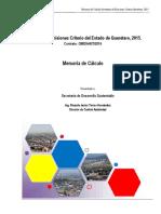 Inventario de Emisiones Criterio del Estado de Querétaro, 2015