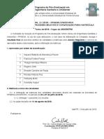 Edital 11 Resultado Final Do Processo de Seleção Alunos Regulares Vagas Da UNICENTRO