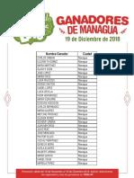 Listado de ganadores Managua
