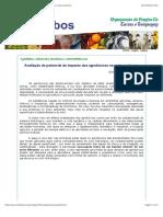 Avaliação do potencial de impacto dos agrotóxicos no meio ambiente