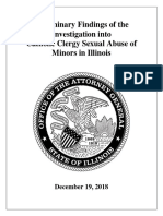 Illinois Attorney General Preliminary Findings
