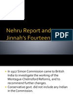 Nehru Report and Jinnah's Fourteen Points