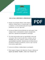 Dicas Para Aprender e Aprimorar o Português - Baranda