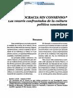 Democracia Sin Consenso