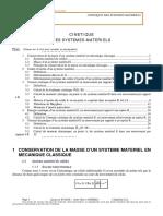 05.1 - Cinétique Des Systèmes Matériels