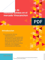 Produccion de Residuos Solidos en El Mercado Vinocanchon R.S.