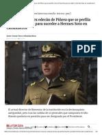 Mario Rozas, El Ex Edecán de Piñera Que Se Perfila Como El Favorito Para Suceder a Hermes Soto en Carabineros