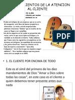 10 Mandamientos de La Atencion Al Cliente