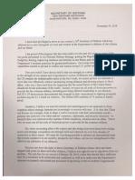 Resignation letter from U.S. Defense Secretary James Mattis