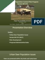 Urban Deer Population Control