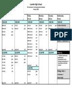 Exam Schedule January 2019