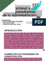 Cambio Organizacional y Nuevos Paradigmas de La Administración