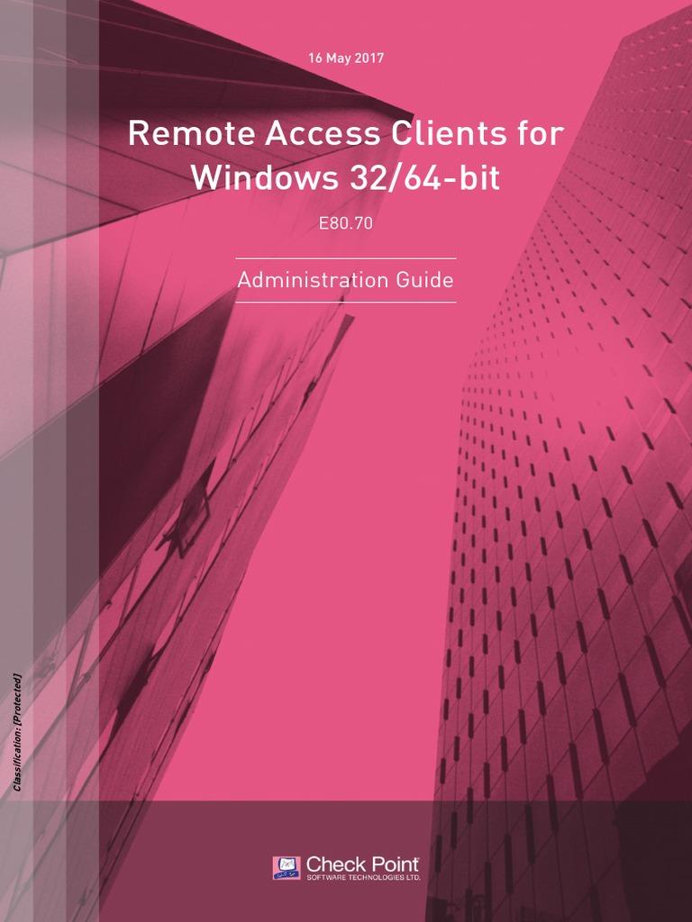 CP E80 70 RemoteAccessClients ForWin AdminGuide | Virtual