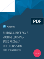 Building a Large Scale Machine Learning-Based Anomaly Detection System, Part 1 - Design Principles
