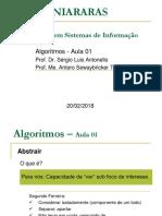 Algoritmos 1S2018 TurmaA Aula01