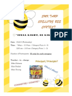 Poster for Spelling Bee
