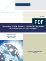 Comparing TCO for BI Solutions