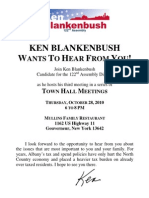 St Lawrence Town Hall Flyer