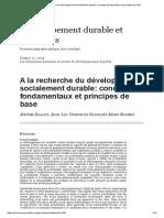 A La Recherche Du Développement Socialement Durable_ Concepts Fondamentaux Et Principes de Base