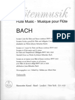 BACH - Sonatas for Flute BWV 1033 (C), BWV 1031 (Eb), BWV 1020 (Gm) - Violoncello (o Viola Da Gamba)