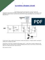 Dynamic Braking Resistor Chopper Circuit