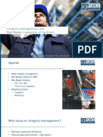 Integrity Management and  Risk Based Inspection of facilities
