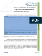 EXAMINATION OF BASIC DATA MEASUREMENT SCALES AND STATISTICAL TECHNIQUES TESTS RELEVANCE IN CONTEMPORARY BUSINESS MANAGEMENT RESEARCH