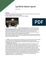 Dasar Teknologi DSLR