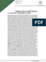 Blocco delle assunzioni nel 2019, l'Università si ribella - La Repubblica.it, 20 dicembre 2018
