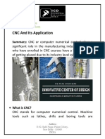 CNC and Its Application